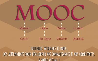 Tutorials, webinars en MOOC : Alternatieven om uw kennis en competenties bij te schaven op eigen tempo !